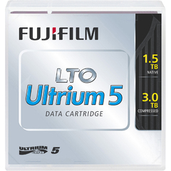 Fujifilm 81110000410 LTO ULtrium 5 Data Cartridge with Barcode Labeling - LTO Ultrium - LTO-5 - 1.50 TB (Native) / 3 TB (Compressed)