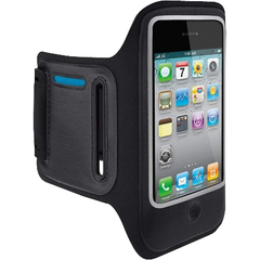 Belkin DualFit F8Z610tt Carrying Case (Armband) for iPhone - Blue, Black - Neoprene