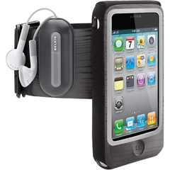 Belkin FastFit F8Z611tt Carrying Case (Armband) for iPhone - Gray, Black