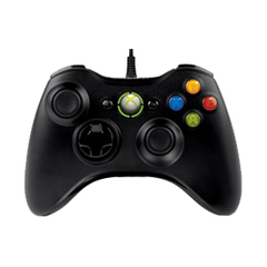 Xbox 360 Wired Controller - Black - Cable - Headphone - PC, Xbox 360