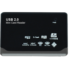 Gear Head CR4200 23-in-1 USB 2.0 Flash Card Reader - 23-in-1 - Memory Stick, Memory Stick Duo, Memory Stick Micro (M2), miniSD Card, Secure Digital (SD) Card, S