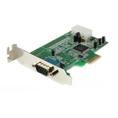 StarTech.com 1 Port Low Profile Native RS232 PCI Express Serial Card with 16550 UART - 1 x 9-pin DB-9 Male RS-232 Serial PCI Express