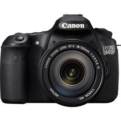 Canon EOS 60D 18 Megapixel Digital SLR Camera (Body with Lens Kit) - 18 mm - 135 mm - Black - 3