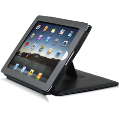 Premiertek LC-IPAD-STD Carrying Case (Flip) for iPad - Black - Leather