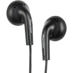Pioneer SE-CE11-K Earphone - Stereo - Black - Mini-phone - Wired - 32 Ohm - 20 Hz 20 kHz - Earbud - Binaural - Open - 3.94 ft Cable