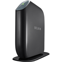 Belkin F7D7301 Wireless Router - IEEE 802.11n - ISM Band - 300 Mbps Wireless Speed - 4 x Network Port - 1 x Broadband Port - USB
