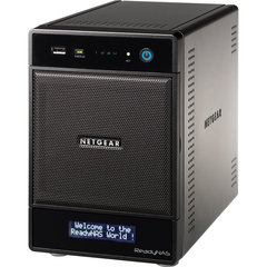 Netgear ReadyNAS Pro 4 RNDP4420 Network Storage Server - 1 x Intel Atom 1.66 GHz - 8 TB - RJ-45 Network, USB