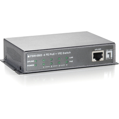 LevelOne FSW-0503 4-Port PoE w1-Port 10/100 Wall Mountable Switch - 5 Port - 4