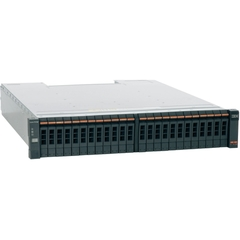 IBM Storwize 2076-124 SAN Array - Serial Attached SCSI (SAS) Controller - RAID Supported - 24 x Total Bays - Network (RJ-45) - Fibre Channel - 2U Rack-mountable