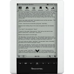 Pandigital Novel PRD06E20WWH8 Digital Text Reader - ePub, PDF - JPEG, BMP, PNG - MP3 - 6