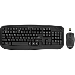 Gear Head KB5150W Keyboard and Mouse - USB Wireless RF Keyboard - USB Wireless RF Mouse - Optical - 3 Button - Scroll Wheel