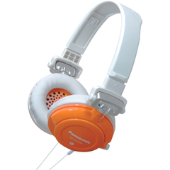 Panasonic RP-DJS400 Headphone - Stereo - Orange - Mini-phone - Wired - 32 Ohm - 10 Hz 27 kHz - Gold Plated - Over-the-head - Binaural - Ear-cup - 3.94 ft Cable