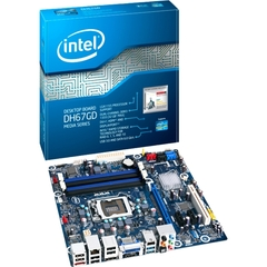 Intel Media DH67GD Desktop Motherboard - Intel H67 Express Chipset - Socket H2 LGA-1155 - 1 Pack - Micro ATX - 1 x Processor Support - 32 GB DDR3 SDRAM Maximum