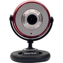 Gear Head WC750RED Webcam - 1.3 Megapixel - Red - USB 2.0 - 640 x 480 Video - Microphone