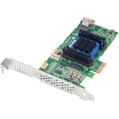 Adaptec 6405 4-port SAS RAID Controller - Serial Attached SCSI (SAS), Serial ATA/600 - PCI Express x8 - Plug-in Card - RAID Supported - 0, 1, 1E, 5, 5EE, 6, 10,