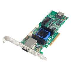 Adaptec 6445 8-port SAS RAID Controller - Serial Attached SCSI (SAS), Serial ATA/600 - PCI Express x8 - Plug-in Card - RAID Supported - 0, 1, 1E, 5, 5EE, 6, 10,