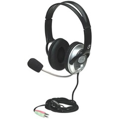 Manhattan 175555 Classic Stereo Headset - Wired Connectivity - Stereo - Over-the-head - Black