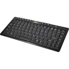 SIIG Wireless Ultra Thin Multimedia Mini Keyboard - Wireless - RF - Black - Retail - USB 2.0 - 87 Key - English (US) - QWERTY