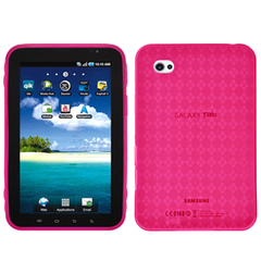 Amzer Luxe Tablet PC Skin - Tablet PC - Hot Pink - Argyle - Thermoplastic Polyurethane (TPU), Gel