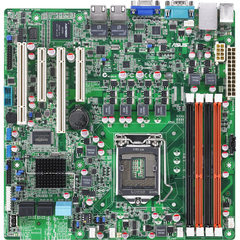 Asus P8B-M Server Motherboard - Intel C204 Chipset - Socket H2 LGA-1155 - Retail Pack - Micro ATX - 1 x Processor Support - 32 GB DDR3 SDRAM Maximum RAM - Seria