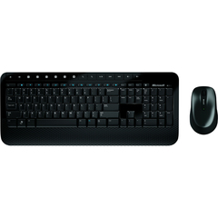 Microsoft Wireless Desktop 2000 Keyboard and Mouse - Retail - USB Wireless RF Keyboard - English (North America) - USB Wireless RF Mouse - BlueTrack - Tilt Whee