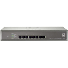LevelOne FEP-0811 8-Port PoE 10/100 Desktop Switch - 8 Port - 8 x 10/100Base-TX - Power Over Ethernet