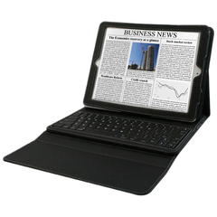 Hip Street iPad Case with Bluetooth Keyboard Venture Case - Wireless - Bluetooth - Black