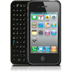 Hip Street iPhone 4/4S Bluetooth Keyboard Case - iPhone - Black - Plastic