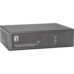 LevelOne FEP-0812 8-Port 10/100 w/4-Port PoE Desktop Switch - 8 Port - 4
