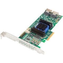 Adaptec 6805E 8-port SAS RAID Controller - Serial Attached SCSI (SAS), Serial ATA/600 - PCI Express 2.0 x4 - Plug-in Card - RAID Supported - 0, 1, 10, 1E, JBOD