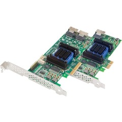 Adaptec 6405E 4-port SAS RAID Controller - Serial Attached SCSI (SAS), Serial ATA/600 - PCI Express 2.0 x1 - Plug-in Card - RAID Supported - 0, 1, 10, 1E, JBOD