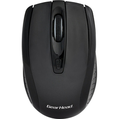 Gear Head Mouse - Optical - Wireless - Radio Frequency - Black - 1000 dpi - Scroll Wheel