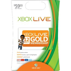 Microsoft Xbox Live Card - 12 Month Available Time