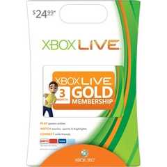 Microsoft Xbox Live Card - 3 Month Available Time