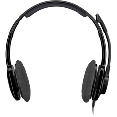 Logitech H250 Headset - Stereo - Graphite - Mini-phone - Wired - Over-the-head - Binaural - Semi-open - Noise Cancelling Microphone