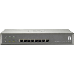 LevelOne GEP-0822 8-Port Gigabit PoE Desktop Switch (250W) Ethernet Switch - 8 Port - 8 x 10/100/1000Base-T - Power Over Ethernet