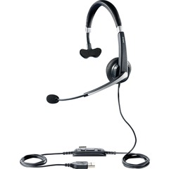 Jabra UC Voice 550 Headset - Mono - Black - USB - Wired - Over-the-head - Monaural - Semi-open - Noise Cancelling, Noise Reduction Microphone