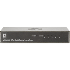 LevelOne GSW-0509 5-Gig Port w/Internal Power - Power Saving Series - 5 Port - 5 x 10/100/1000Base-T