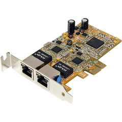 StarTech.com Low Profile Dual Port Gigabit Network Server Adapter NIC Card - PCI Express x1 - 2 Port - 10/100/1000Base-T - Internal - Low-profile