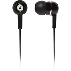 V7 HA100 Earphone - Stereo - Black - Mini-phone - Wired - 32 Ohm - 20 Hz 20 kHz - Earbud - Binaural - Open - 3.94 ft Cable