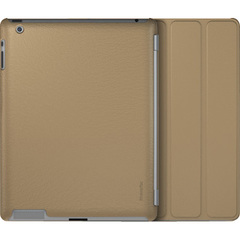XtremeMac Microshield SCL Carrying Case for iPad - Tan - Impact Resistance - Leather