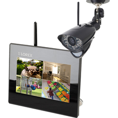 Lorex LIVE Wireless Video Monitoring System - 1 x Camera, Monitor, Digital Video Recorder - 7