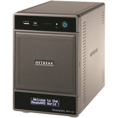 Netgear ReadyNAS NV+ RND4000 Network Storage Server - Marvell IT3107 1.60 GHz - USB, USB, RJ-45 Network