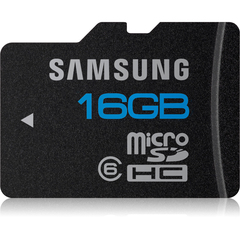 Samsung MB-MSAGA 16 GB microSD High Capacity (microSDHC) - 1 Card/1 Pack - Class 6 - 24 MBps Read - 13 MBps Write