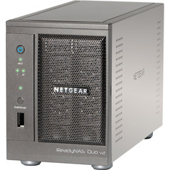 Netgear ReadyNAS Duo RND2210 Network Storage Server - Marvell 1.60 GHz - 2 TB - USB, USB, RJ-45 Network