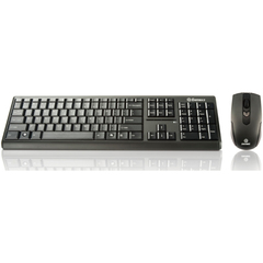 Enermax Briskie KM001W Keyboard & Mouse - USB Wireless RF Keyboard - 107 Key - Black - USB Wireless RF Mouse - Optical - 1600 dpi - 4 Button - Scroll Wheel - Bl