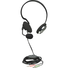 Manhattan Behind-The-Neck Stereo Headset - Stereo - Black, Silver - Mini-phone - Wired - 32 Ohm - 20 Hz - 20 kHz - Behind-the-neck - Binaural - Semi-open - 7.22