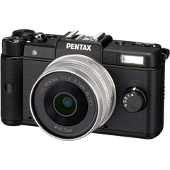 Pentax Q 12.4 Megapixel Mirrorless Camera (Body with Lens Kit) - 5 mm - 15 mm - 8.50 mm (Lens 2) - Black - 3