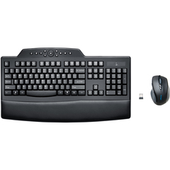 Kensington Pro Fit Keyboard & Mouse - USB Wireless RF Keyboard - Black - USB Wireless RF Mouse - 2 Button - Scroll Wheel - Black