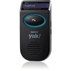 Hip Street yak! Wireless Bluetooth Car Hands-free Kit - LCD Display - Solar Charging, Caller ID, Noise Cancellation, Echo Reduction, Redial, Voice Dial, Call Sw